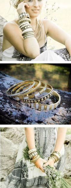 Brass Stacking Bangle Bracelets
