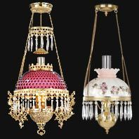 Victorian Library Lamps