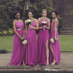Wholesale Bridesmaid Dress - Buy New Arrival Long Bridesmaid Dresses 2015 Hot Sale Jewel Neckline High Class Crystal Sleeves Backless Floor Length Bridesmaid Gowns CQX, $92.52 | DHgate