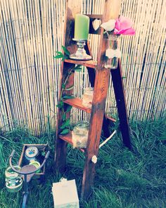Palette project... Wooden ladder decoration!! Perfect to make a rustic wedding...