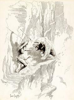 Cap'n's Comics: Bear With Me by Frank Frazetta