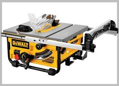 DEWALT Carbide-tipped Blade Table Saw at Lowe's. The revolutionary Dewalt® job site table saw is lightweight, durable, and delivers the most power in its weight class. It rips through Best Table Saw, Table Saw Stand, Diy Table Saw, A Table, Wood Table, Circular Saw Reviews, Best Circular Saw, Scie Diy, 10 Inch Table Saw
