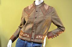Ralph Lauren Blue Label Womens Leather Cotton Brown Blazer Jacket Sz 6 #RalphLaurenBlueLabel #BasicJacket