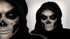Halloween Skull Makeup - Chrisspy - YouTube