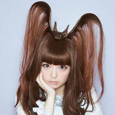 """きゃりーぱみゅぱみゅ (loosely translated """"I have a bat on my head. Screw you if you don't like it."""")"""