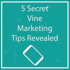 5 Secret Vine Marketing Tips Revealed Are you using Vine to promote your business? Would you like to learn 5 secret Vine marketing tips? Unless you've been living underground for the past few...