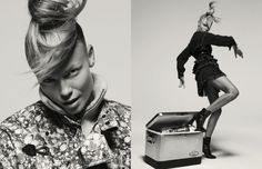 Returning for the second consecutive season as the face of Isabel Marant, Natasha Poly stars in the French designer's fall-winter 2015 advertisements. Photographed by Inez & Vinoodh, the blonde beauty channels her inner dancer, striking dynamic poses in the Parisian cool pieces. With her hair in a messy ponytail and minimal makeup, the L'Oreal Paris spokesmodel still proves she has her high fashion roots.