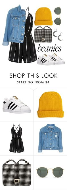 """""""🎩"""" by burcaak ❤ liked on Polyvore featuring adidas, Forever 21, Topshop, Roger Vivier, Ray-Ban, StreetStyle and beanies"""