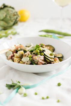 Vignarola - Italienisches Fave, Erbsen, Artischocken, Minze Gericht// Italian Beans, Peas, Artichoke Dish