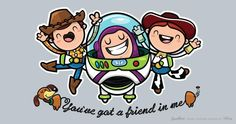 three little friends! Toy Story Threadless Design Competition