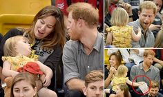 Playful Prince Harry plays with two-year-old girl at Invictus Games