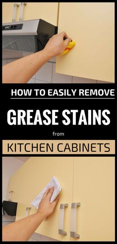 How To Clean Grease From Kitchen Cabinet Doors Cleaning - How to remove grease from kitchen cabinets