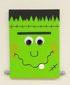 Halloween Paintings On Canvas Lovely Ben Franklin Crafts and Frame Shop D I Y Frankenstein Canvas Halloween Canvas Paintings, Fall Canvas Painting, Halloween Painting, Painting For Kids, Halloween Kids, Painted Canvas, Cooler Painting, Halloween Carnival, Halloween Porch