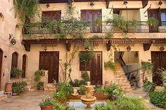 Stock Photo #1890-47418, Courtyard, Beit Al_Wakil Hotel, Aleppo Haleb, Syria, Middle East