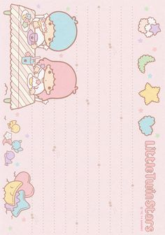 Sanrio Little Twin Stars Memo Sanrio Wallpaper, Kawaii Wallpaper, Kawaii Stationery, Stationery Paper, Little Twin Stars, Memo Notepad, Hello Kitty My Melody, Cute Stationary, Cute Notes
