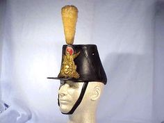 Original Civil War Chasseur Pattern Shako Cap.  10,000 Ordered by the War Department in 1861.  Then were issued to the 62nd & 83rd Pennsylvania - 18th Massachusetts and the 49th & 72nd New York.  Excellent condition with original chin strap.