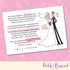 25 x Wedding Wishing Well Poem Cards For Your Invitations - For Money Cash Gift   eBay