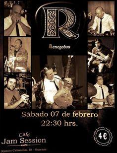 Renegados en Cafe Jam Session, Ourense music musica concerto concierto