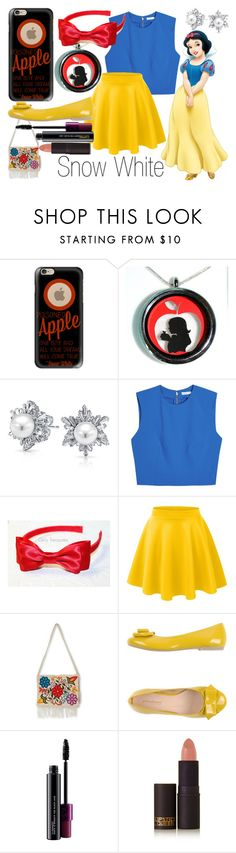 """""""Snow White~ DisneyBound"""" by basic-disney ❤ liked on Polyvore featuring Casetify, Bling Jewelry, Alice + Olivia, LE3NO, NOVICA, PrimaDonna, MAC Cosmetics and Lipstick Queen"""