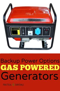 Backup Power Options for when SHTF. All about the pros and cons of gas powered generators. Some good info here.