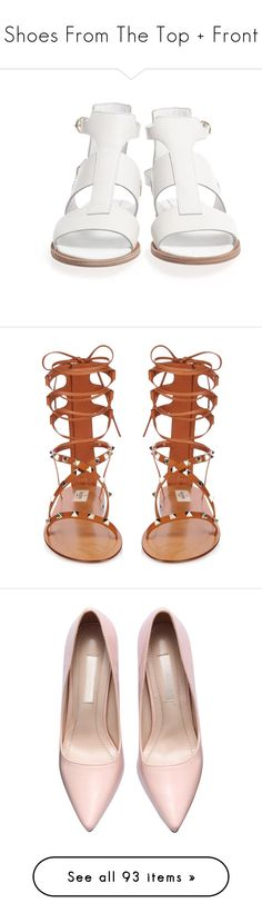 """Shoes From The Top + Front"" by ainzdaswiftie ❤ liked on Polyvore featuring shoes, sandals, clothes - shoes, leather sandals, gladiator sandals shoes, gladiator sandals, greek leather sandals, roman sandals, flats and zapatos"