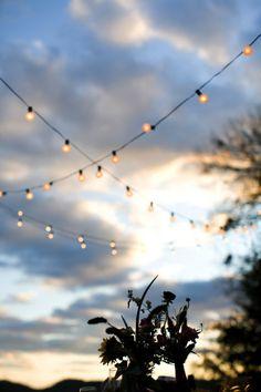 Every wedding needs some globe lights.