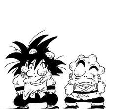 Kid Goku and Kid Krillin beaten up. Dbz, Dragon Ball Z, Sketch Box, Kid Goku, Journey To The West, Pictures To Draw, Animation, Art Reference, Manga Anime