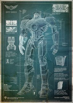 Pacific Rim: Jaegar Graphics and Blueprints - Live Collectiva