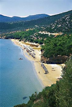 psili ammos beach in Marathocampos, Samos Island, North Aegean_ Greece Most Beautiful Beaches, Beautiful Places, Places To Travel, Places To See, Samos Greece, Thasos, Greece Islands, Greece Travel, Beautiful Islands