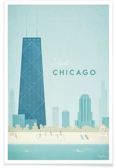 Chicago en Affiche premium par Henry Rivers | JUNIQE
