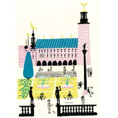 Stockholm City Hall poster - 50x70 cm - Olle Eksell