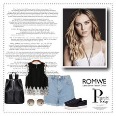 """Romwe 6/III"" by nermina-okanovic ❤ liked on Polyvore featuring Topshop, Prada and romwe"