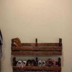 Pallet Shoe Rack / Wall Shoe Rack / Rustic Shoe Rack / Shoe | Etsy Rustic Shoe Rack, Wooden Shoe Racks, Rustic Bookshelf, Bookshelves, Shoe Storage Pallet, Wall Shoe Rack, Minwax Wood Stain, Love Shelf, Hanging Herbs