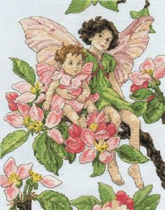 Flower Fairies Apple Blossom Fairies by DMC Cross Stitch Collection Issue 180 Hard Copy