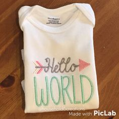 Hello World by sidneykarissa on Etsy