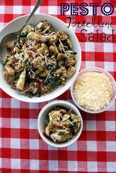 Pesto Tortellini Salad {add Kalamata Olives}   Katie's Cucina