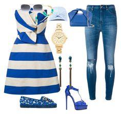 """Blue &&&& white..,"" by jamuna-kaalla ❤ liked on Polyvore featuring Delpozo, IRO, Casadei, J.W. Anderson, Dolce&Gabbana, Federica Moretti, Gucci, DKNY, Aurélie Bidermann and Roberto Cavalli"