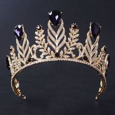 7-5cm-High-Adult-Purple-Big-Drip-Crystal-Leaf-Tiara-Crown-Wedding-Pageant-Prom