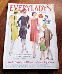 Vintage 1929 Everylady's Magazine with 3 by VioletsEmporium