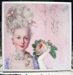 Marie Antoinette Decorative Ceramic Tile So by thecottagemarket