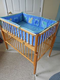 Vintage Baby Portable Crib/Playpen by Port a Crib for doll / reborn doll display