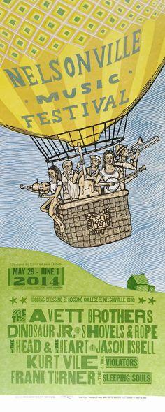 2014 Nelsonville Music Festival Poster by justajar