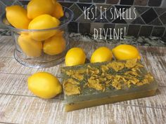 Lemon and Rosemary Soap Recipe will have your kitchen smelling fresh and clean. Diy Beauty Care, Sugar Scrub Recipe, Homemade Soap Recipes, Fresh And Clean, Home Made Soap, Soap Making, Scented Candles, Soaps, Lemon