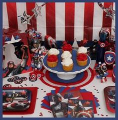 captain america birthday party on pinterest captain america cake captain america party and. Black Bedroom Furniture Sets. Home Design Ideas