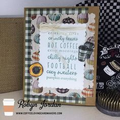 Sweater Pumpkins, Winter Coffee, Unity Stamps, Fall Cards, Hot Coffee, Cozy Sweaters, Coffee Lovers, Fall Winter, Day