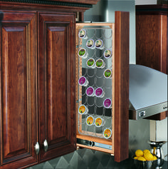 For the Keurig lover in your life, get morning started right with Rev-A-Shelf's K-Cup organizer! Sold as an accessory to the 432 3-inch Wall Filler line, it retrofits to existing units. The unique design holds 44 Keurig, coffee, or tea pods and installs easily with only a few included screws. The durable construction and sleek wire design, combined with the space saving filler pullouts, make this the perfect purchase for any coffee or tea lover.