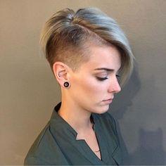"4,100 Likes, 29 Comments - @shorthair_love on Instagram: ""@airy333 #undercut #shorthair #shorthairlove #pixiecut #haircut #hairstyle #hair #blonde"""
