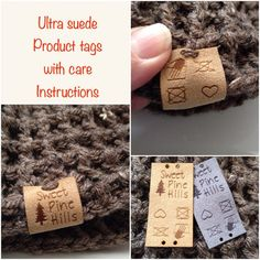 Custom care instruction tag ultra suede tag by Sweetpinehills Laser Labels, Wood Jewelry Display, Sewing Labels, Love Tag, Circuit Projects, Custom Tags, Couture, Custom Engraving, Diy And Crafts
