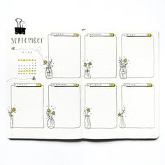 Bullet Journal Weekly Spread: 126 Layout Ideas You Need To Try - Inspiring Sunday 2017 Bullet Journal, Bullet Journal Weekly Layout, Bullet Journal Cover Page, Bullet Journal Notebook, Bullet Journal Aesthetic, Bullet Journal School, Bullet Journal Themes, Bullet Journal Spread, Bullet Journal Inspiration