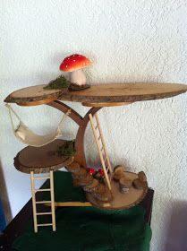 gnome home from a plant stand